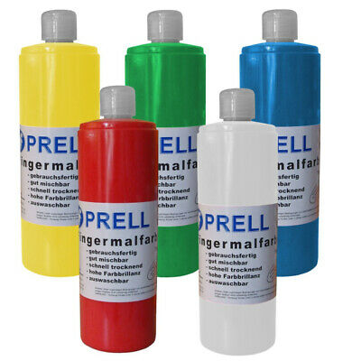 5er Set: Fingermalfarben je 750ml, FINGERFARBEN (88121)