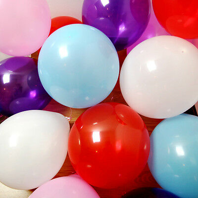 100 X 10 Inch Latex Helium Or Air Quality Balloons For Party Wedding Birthday