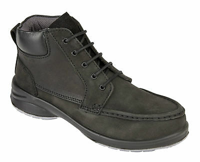 Himalayan 2211 Star Ladies Black S1P steel toe midsole safety trainer boot 3-9