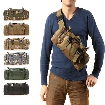 Outdoor Military Tactical Waist Shoulder Bag Pack Molle Camping Hiking Pouch Bag