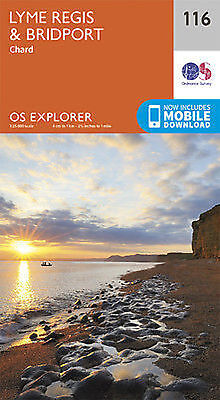Lyme Regis and Bridport 116 Explorer Map Ordnance Survey With Digital Download