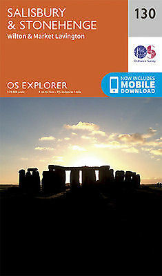 Salisbury and Stonehenge 130 Explorer Map Ordnance Survey 2015