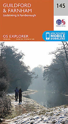Guildford and Farnham 145 Explorer Map Ordnance Survey With Digital Download
