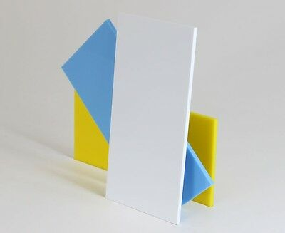 White Colour Perspex Acrylic Sheet Plastic Material Panel Cut to Size 3mm Thick
