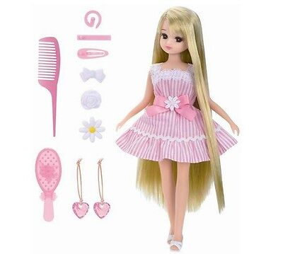 Takara Tomy Licca-chan Smooth and silky long hair LD-12 Doll F/S