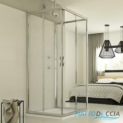 duschabtrennung duschkabine u form 3 seiten eckeinstieg dusche schiebet r glas eur 396 00. Black Bedroom Furniture Sets. Home Design Ideas