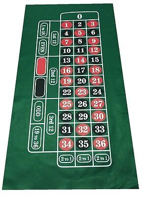 Large Roulette Felt Baize Layout - Vivid Colours  - Look No Further - Low Price
