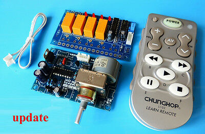 Infrared remote volume control panel+Audio signal selection board+Remote Kit DIY