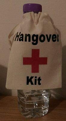 Wedding, Party, Birthday Novelty Personalised Hangover Kit Bag Great Favours