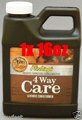 Fiebing's 4 Way Care Leather Conditioner Protector Cleaner 16 oz