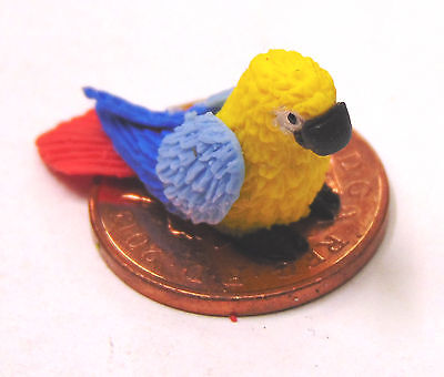 1:12 Scale Large /& Small Unpainted Parrots Tumdee Dolls House Bird Accessory P16
