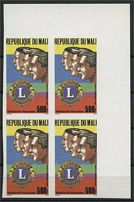 Lions Club And Rotary International, Mali, Bloc Of4, 1987, Mnh, Imperf, Airmails