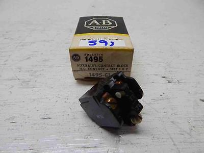 New! Allen Bradley 1495-G1 Auxiliary Contact Block NC Contact Size 1&2