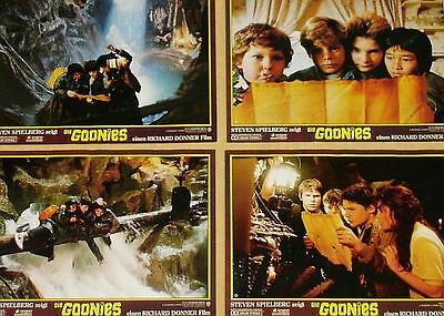 THE GOONIES - Lobby Cards Set + HUGE Cards! - Steven Spielberg, Sean Astin