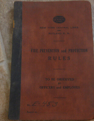 New York Central Lines Prevention & Protection Rules Book 1950s