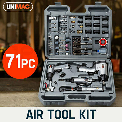 UNIMAC 71pcs Air Impact Wrench Pneumatic Tool Kit Ratchet Rattle Gun Socket Set