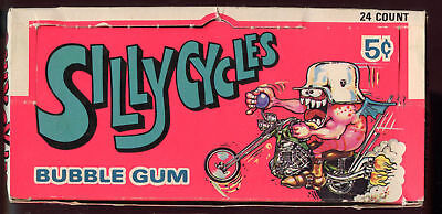 1972 Donruss Silly Cycles Card EMPTY Wax Pack Box Odd Rods Set Rod