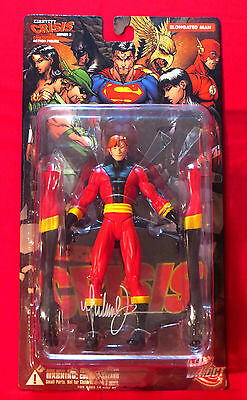 Identity Crisis Elongated Man Action Figure Signed By Artist Michael Turner