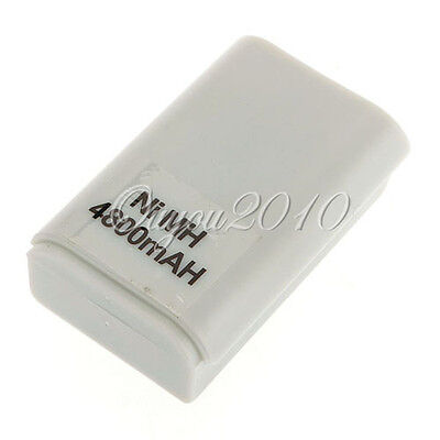 4800mAH White Rechargeable Battery Pack for Xbox 360 Wireless Controller Dual