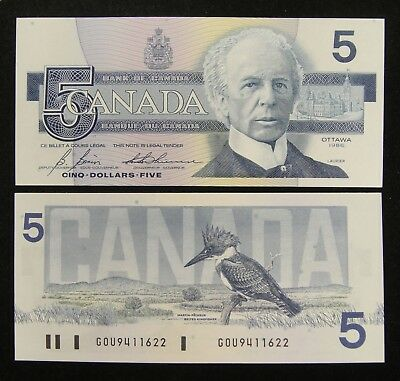 Old Type CANADA 5 Dollars 2001 UNC BC-62a Knight // Dodge ANV Early Prefix