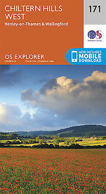 Chiltern Hills West Henley on Thames 171 Explorer Map Ordnance Survey With Digit