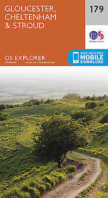 Gloucester Cheltenham and Stroud 179 Explorer Map Ordnance Survey 2015