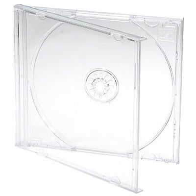 100 X CD Jewel 10.4mm Cases for 1 Disc with Clear Tray - Pack of 100