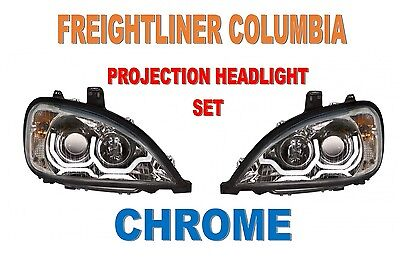 Freightliner Columbia Projection Headlights (SET)  - NEW DESIGN