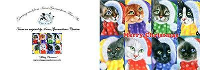 Cat Christmas Card The Cats Art by Irina Garmashova