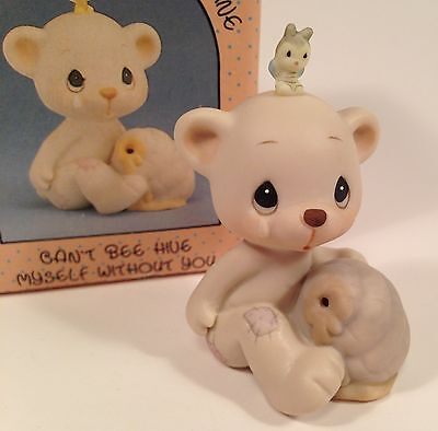 Precious Moments Can't Bee Hive Myself without You Bear 1989 Bow Arrow BC891 1st