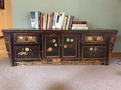 Antique Black Chinese Cabinet