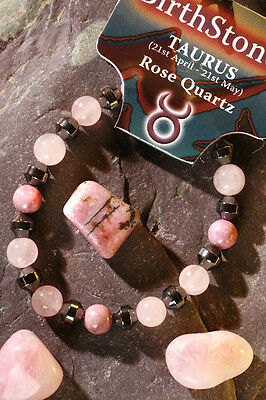 'TAURUS' Gemstone 'Power Bracelet' plus a free guide book & bookmark.