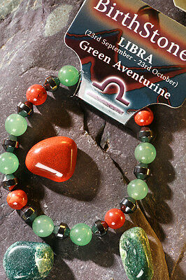 'LIBRA' Gemstone 'Power Bracelet' plus a free guide book & bookmark.