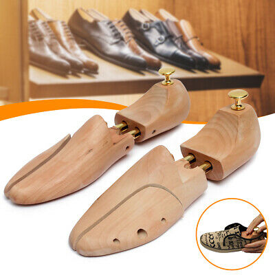 Pair Wooden Shoes Tree Holder Shaper Keeper Stretcher EU 35-46/US 5-12/UK 3-11.5