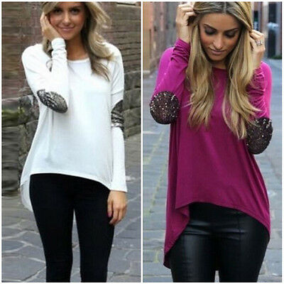 Sexy Women Summer Autumn Long Sleeve Tee Shirt Tops Ladies Casual Loose Blouse