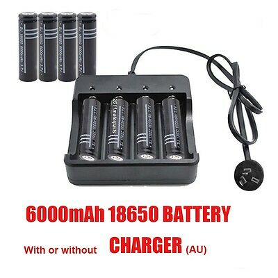 2/4/6/8/10x RECHARGEABLE 3.7V 18650 BATTERY FLASHLIGHT / AU CHARGER A3