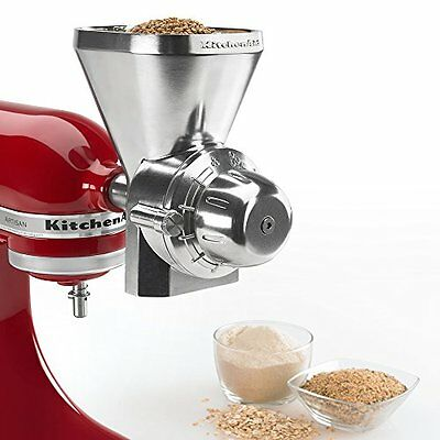 NEW KitchenAid KGM Metal Stand-Mixer Grain-Mill Attachment with Cleaning Brush