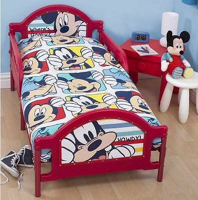 Disney Mickey Mouse Junior Cot Bed Bedding Duvet Pillow 4 In 1 Bundle