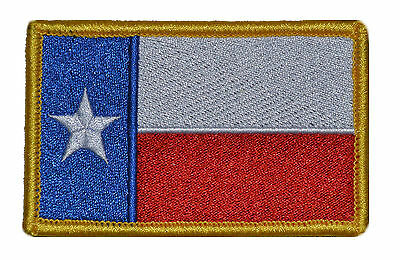 Texas State Flag 3x2 Hat Patch w/ Fastener Military Morale United States Patch