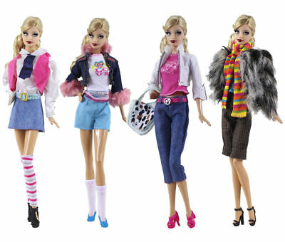 New 4 PCS Fashion Handmade Evening Clothes/Outfit For 11.5in.Doll P30
