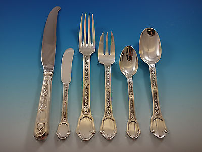 Versailles by Tetard Freres Sterling Silver Flatware Set Service French 71 Pcs