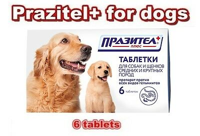 Prazitel+ for dogs, wormer products, helminths of all types, average, large dogs