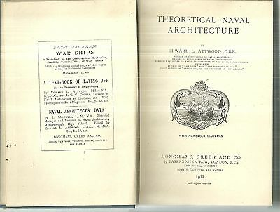 Theoretical Naval Architecture Edward L. Attwood 1922 Navy