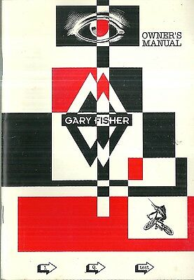 Gary Fisher Owner's Manual Bicycle
