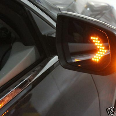 Red LED Arrow Panel Car Side Mirror Turn Signal Indicator Sequential Flash Light