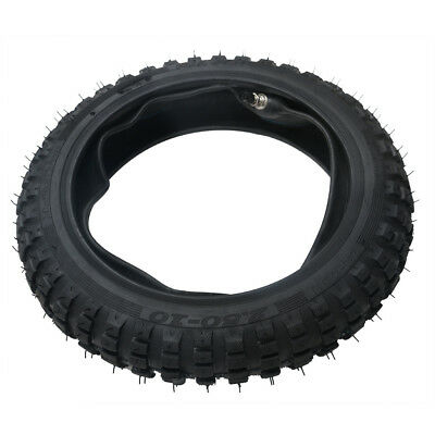 "2.50-10"" Inch Front Knobby Tyre Tire + Tube PIT PRO Trail Dirt PW50 Bike MA"