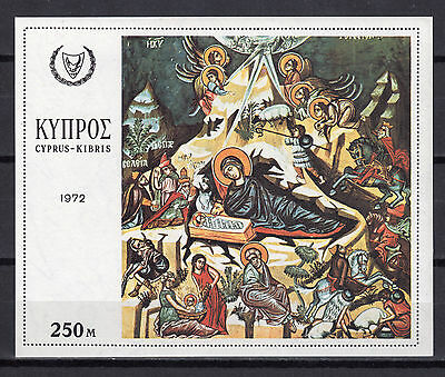 Cyprus 1972 Christmas - Miniature Sheet Mnh