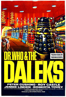 """""""dr Who & The Daleks"""" Peter Cushing Roy Castle TV Movie Poster A1 A2 A3 A4Sizes"""