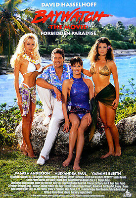 """BAYWATCH"" ..Pamela Anderson & David Hasslehoff TV Movie Poster A1 A2 A3 A4Sizes"