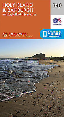 Holy Island and Bamburgh Explorer Map 340 Ordnance Survey